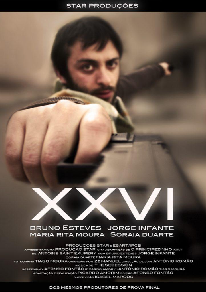 "Cartaz oficial da curta ""XXVI"""
